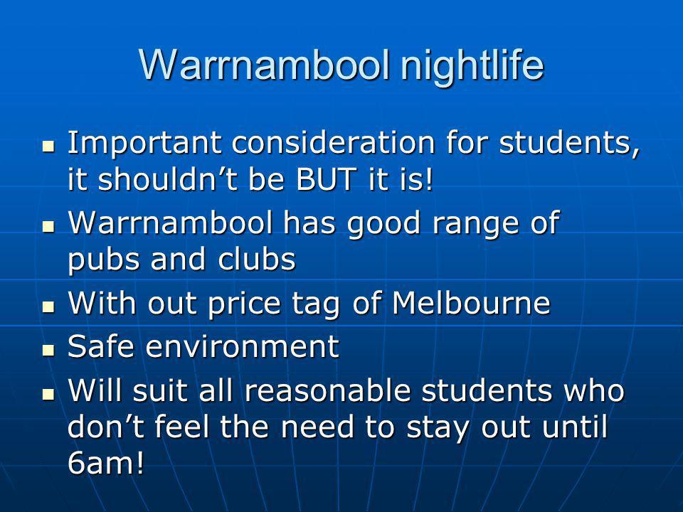 Warrnambool nightlife