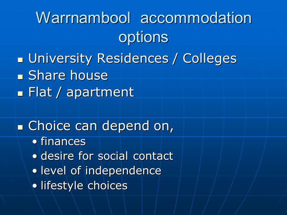Warrnambool accommodation options