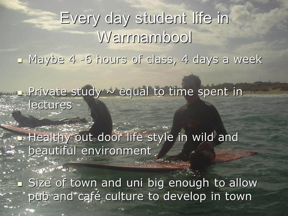 Every day student life in Warrnambool