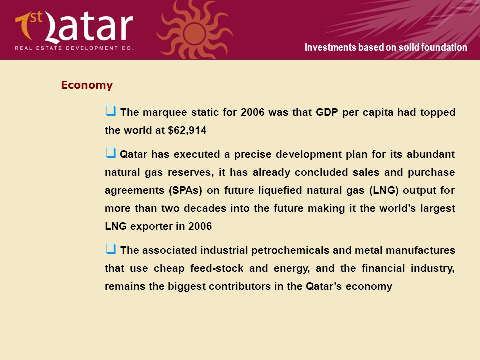 Economy The marquee static for 2006 was that GDP per capita had topped the world at $62,914.