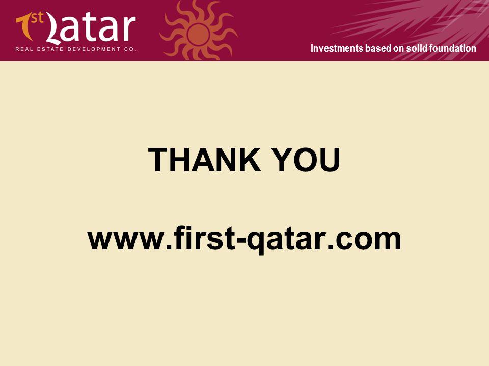 THANK YOU www.first-qatar.com