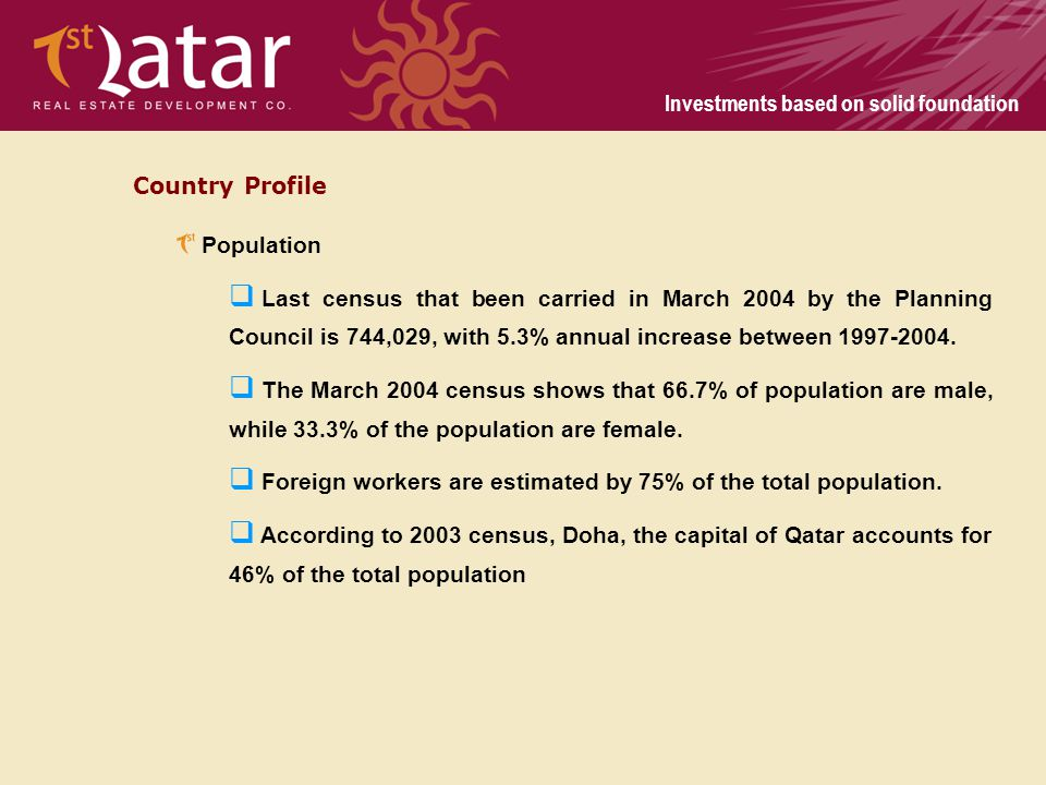 Country Profile Population.