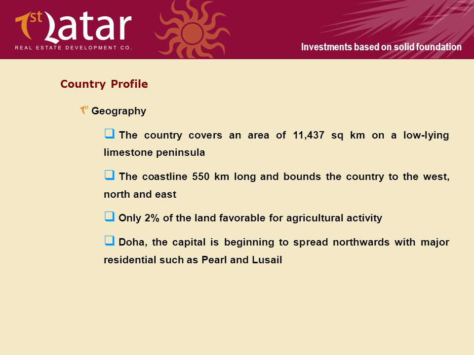 Country Profile Geography. The country covers an area of 11,437 sq km on a low-lying limestone peninsula.