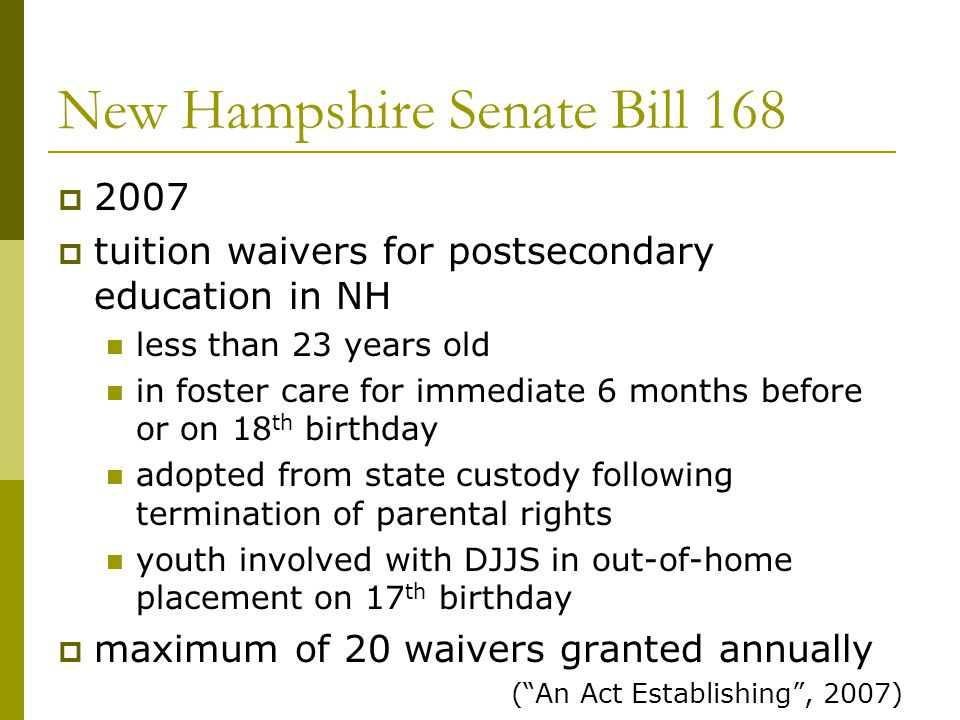 New Hampshire Senate Bill 168