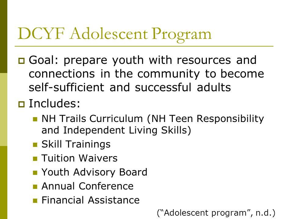 DCYF Adolescent Program