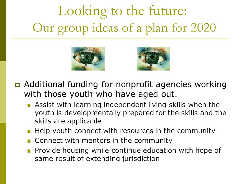 Looking to the future: Our group ideas of a plan for 2020