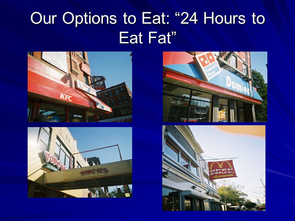 Our Options to Eat: 24 Hours to Eat Fat