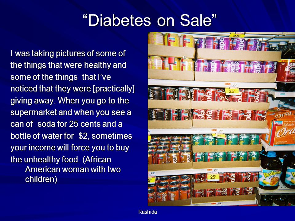 Diabetes on Sale
