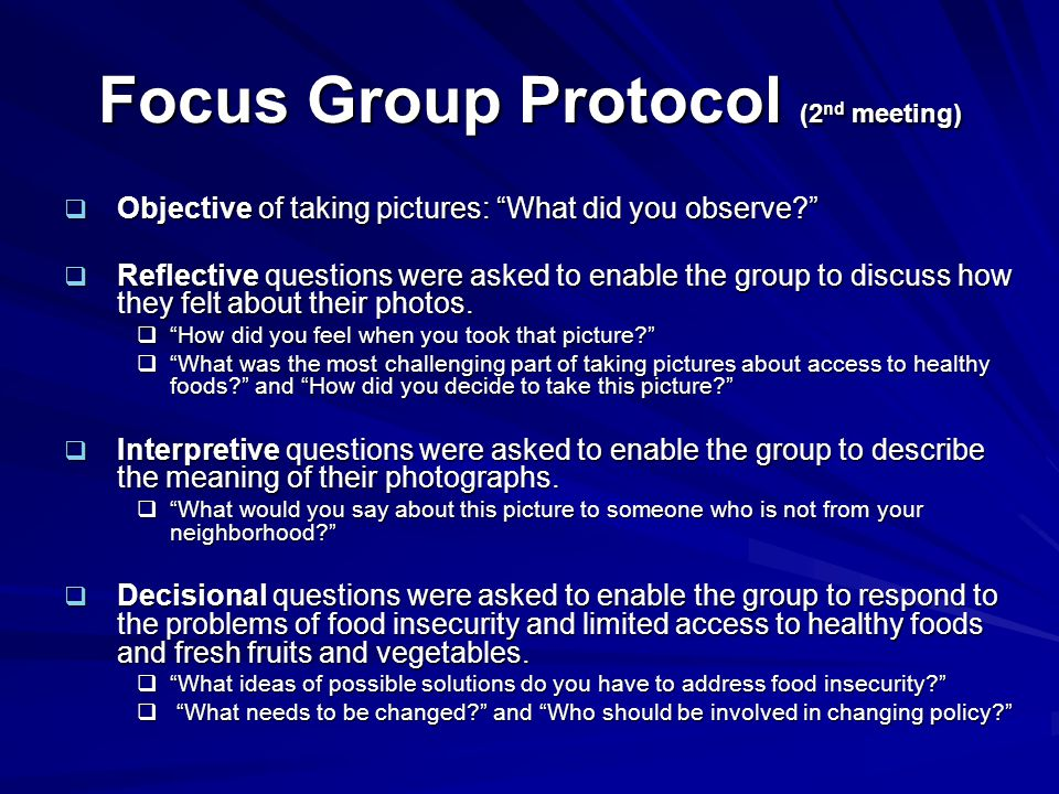 Focus Group Protocol (2nd meeting)
