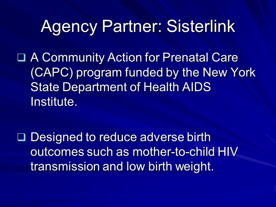 Agency Partner: Sisterlink