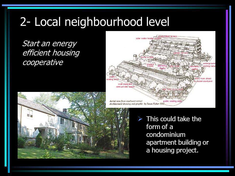 2- Local neighbourhood level