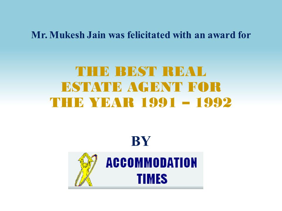 Mr. Mukesh Jain was felicitated with an award for