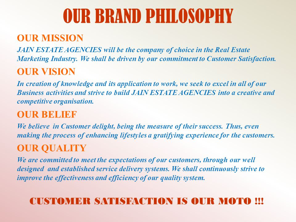 CUSTOMER SATISFACTION IS OUR MOTO !!!