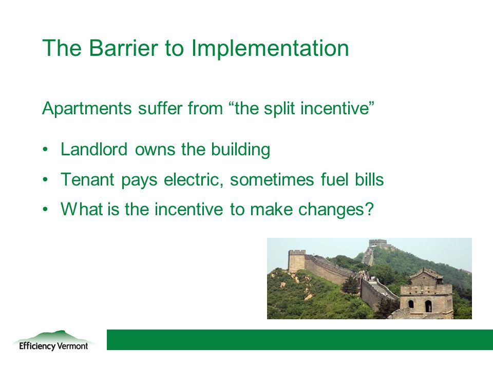 The Barrier to Implementation