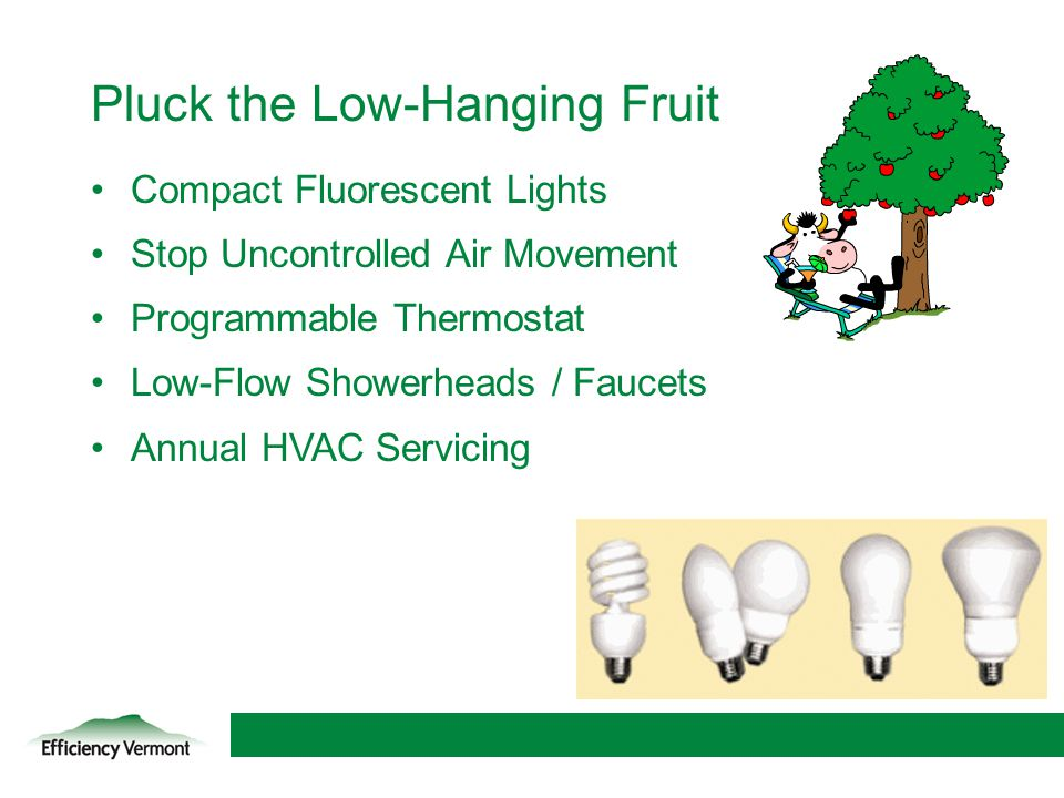 Pluck the Low-Hanging Fruit