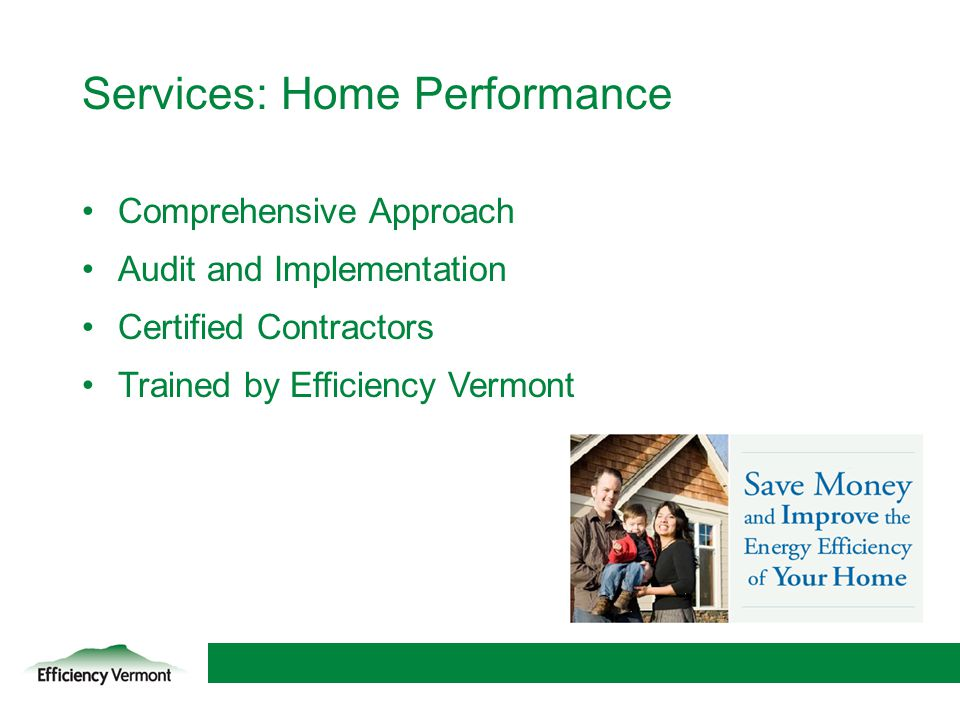 Services: Home Performance