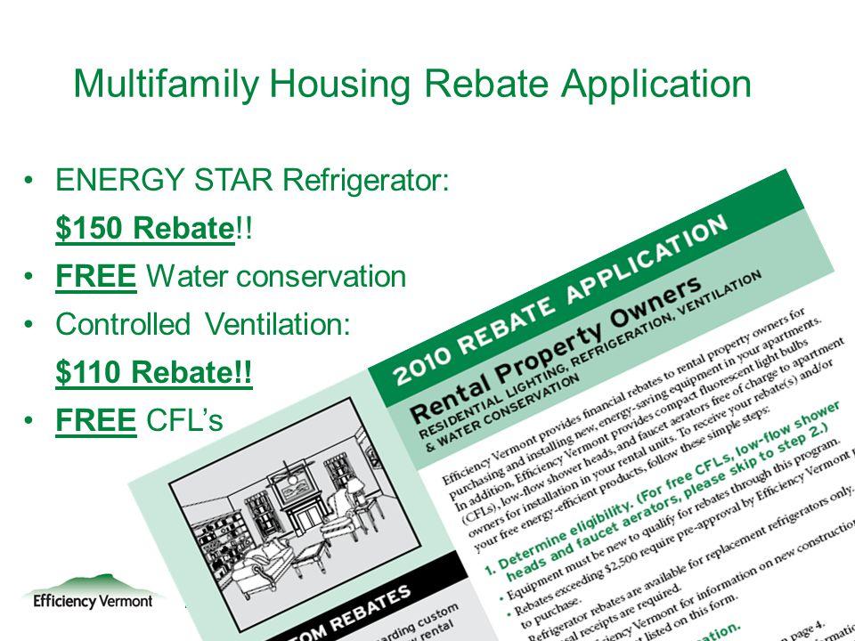 Multifamily Housing Rebate Application