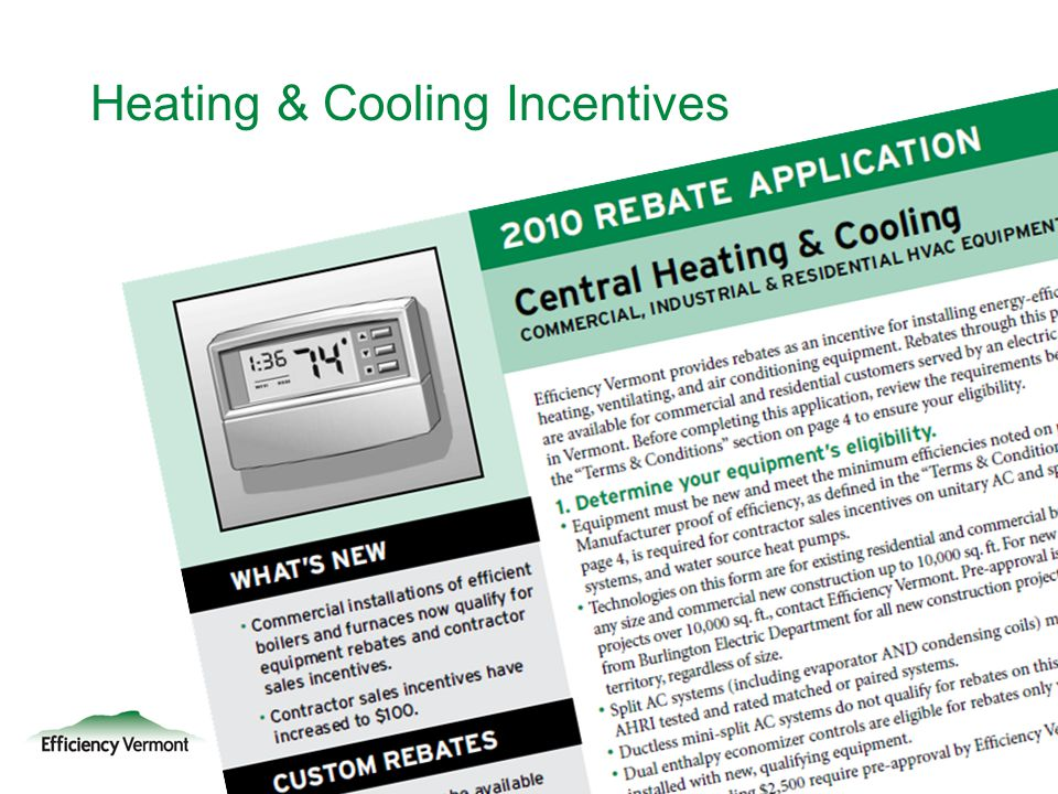 Heating & Cooling Incentives