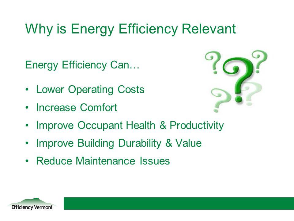 Why is Energy Efficiency Relevant