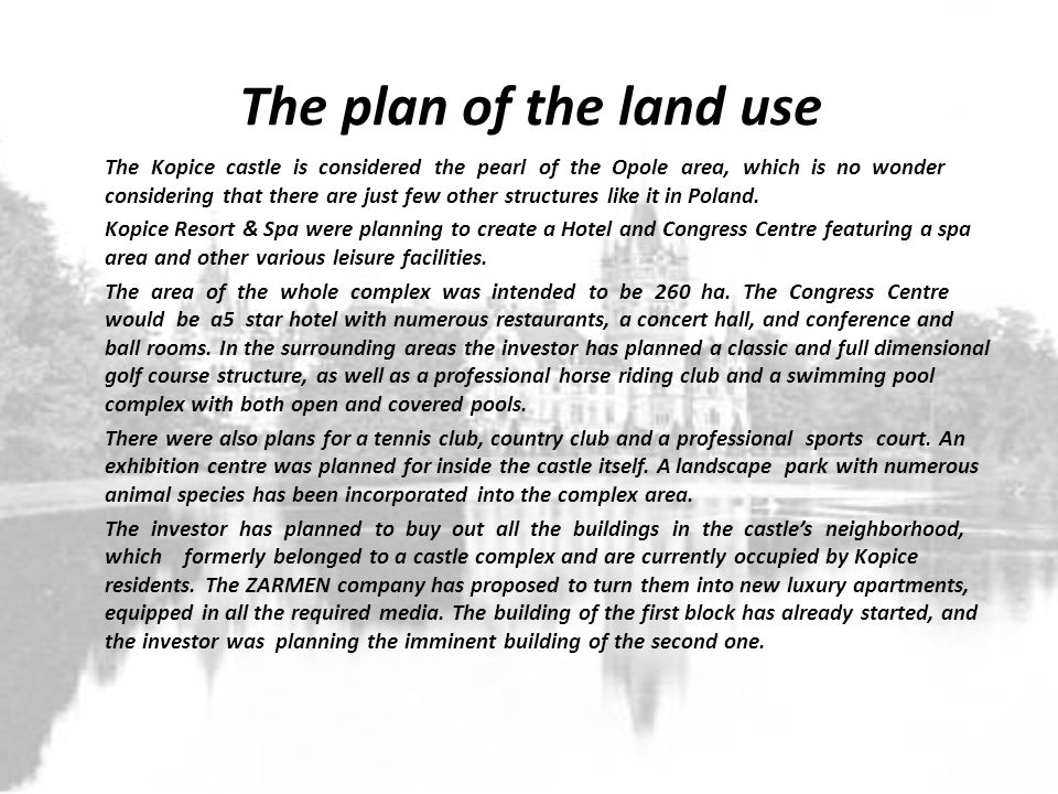 The plan of the land use