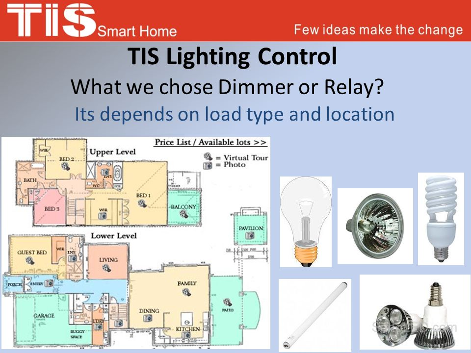 TIS Lighting Control What we chose Dimmer or Relay