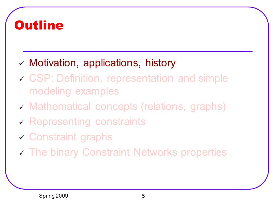 Outline Motivation, applications, history