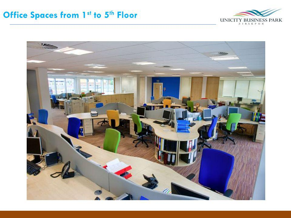 Office Spaces from 1st to 5th Floor
