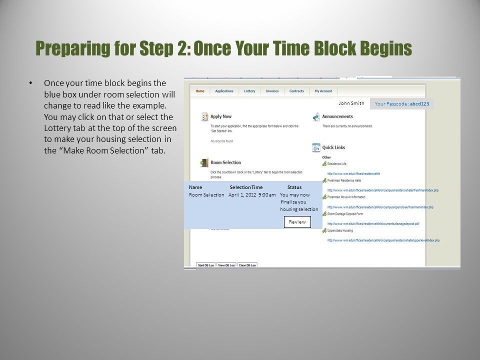 Preparing for Step 2: Once Your Time Block Begins