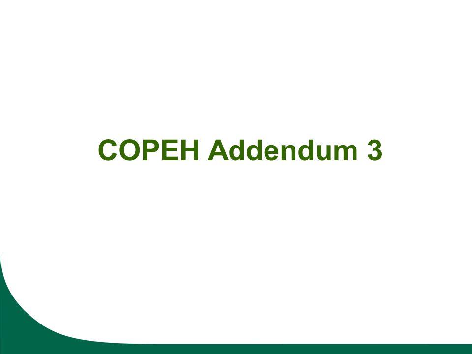 COPEH Addendum 3