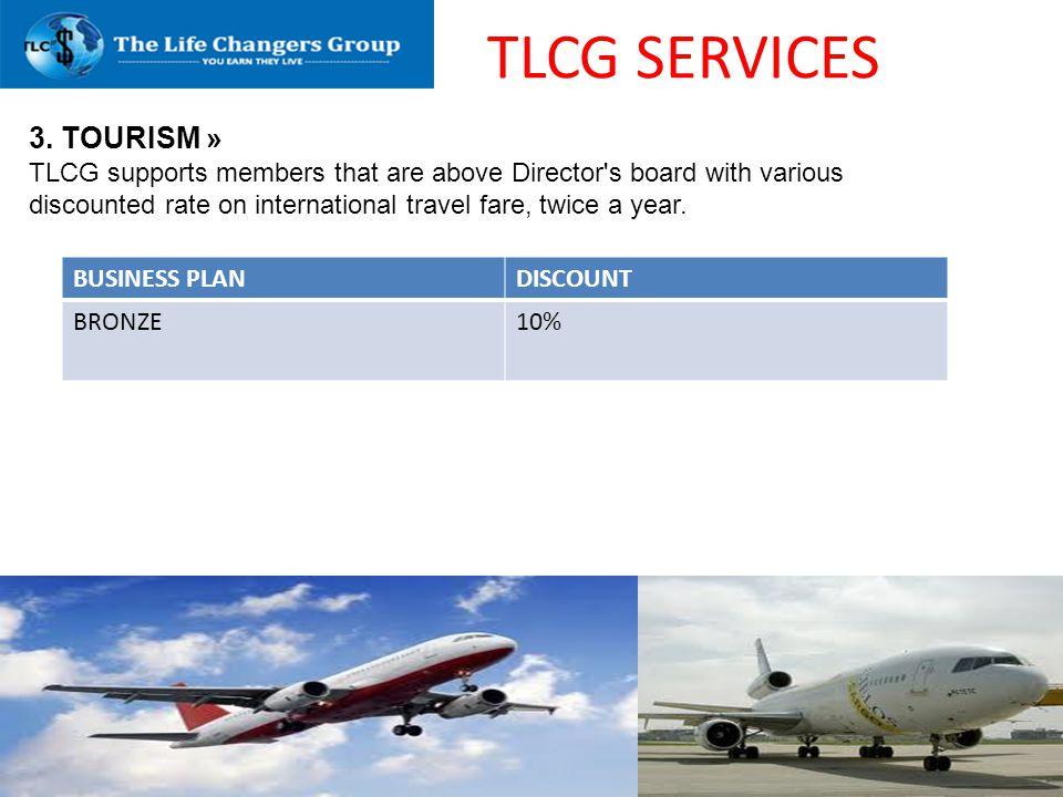 TLCG SERVICES 3. TOURISM »