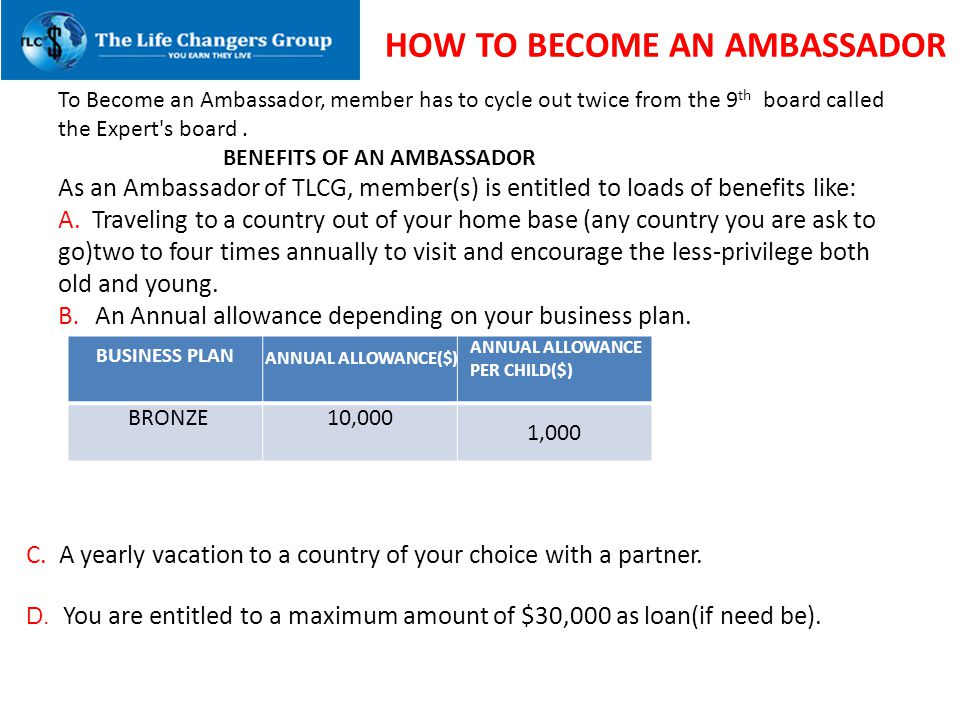 HOW HOW TO BECOME AN AMBASSADOR