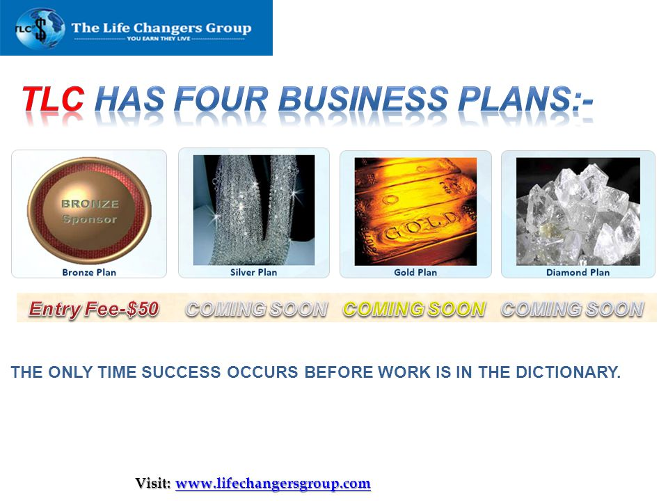 tlc Has Four Business Plans:-