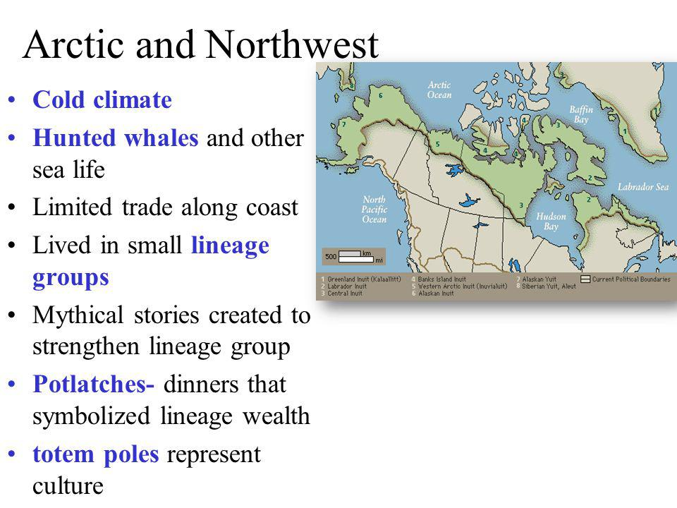 Arctic and Northwest Cold climate Hunted whales and other sea life