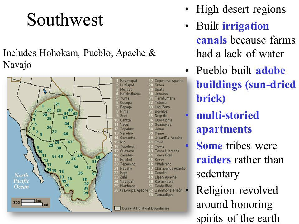 Southwest High desert regions
