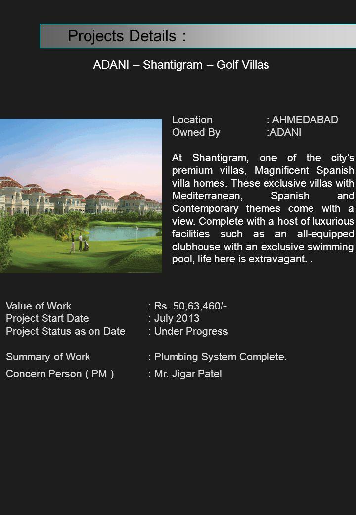 ADANI – Shantigram – Golf Villas