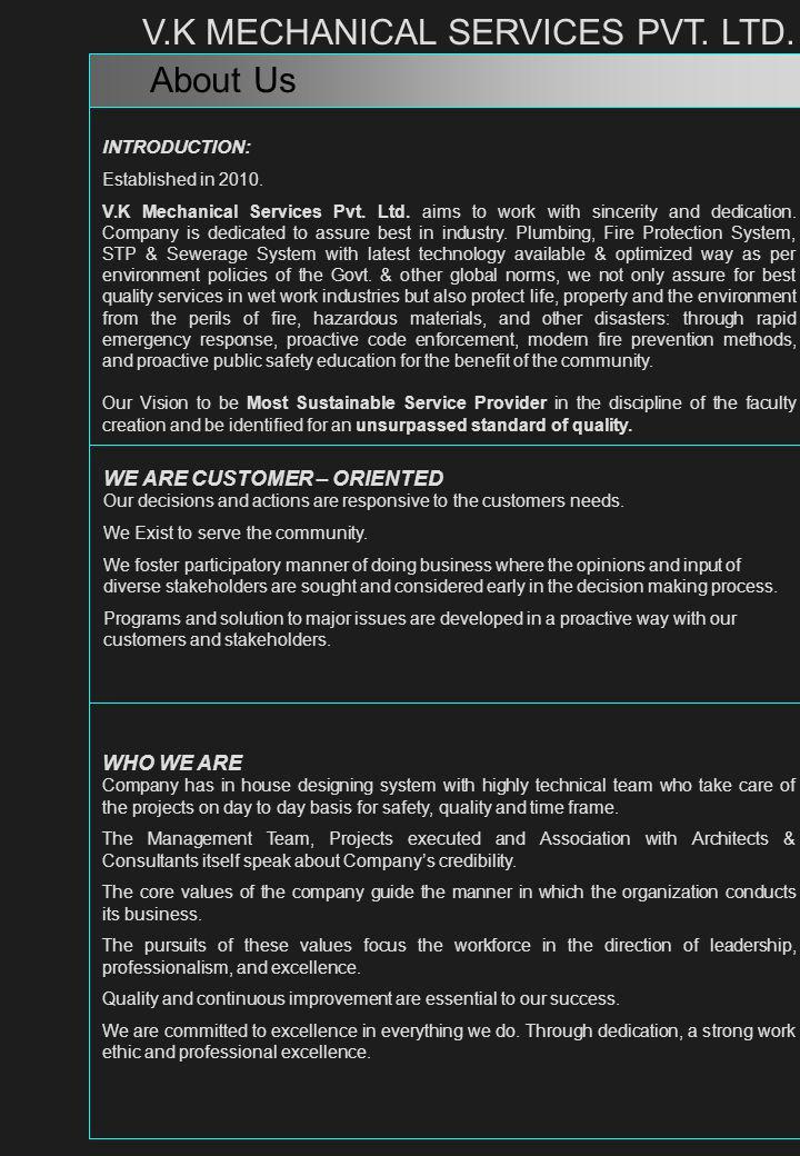 V.K MECHANICAL SERVICES PVT. LTD.