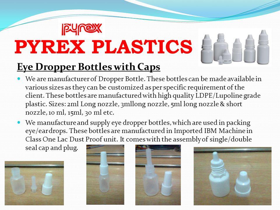 PYREX PLASTICS Eye Dropper Bottles with Caps