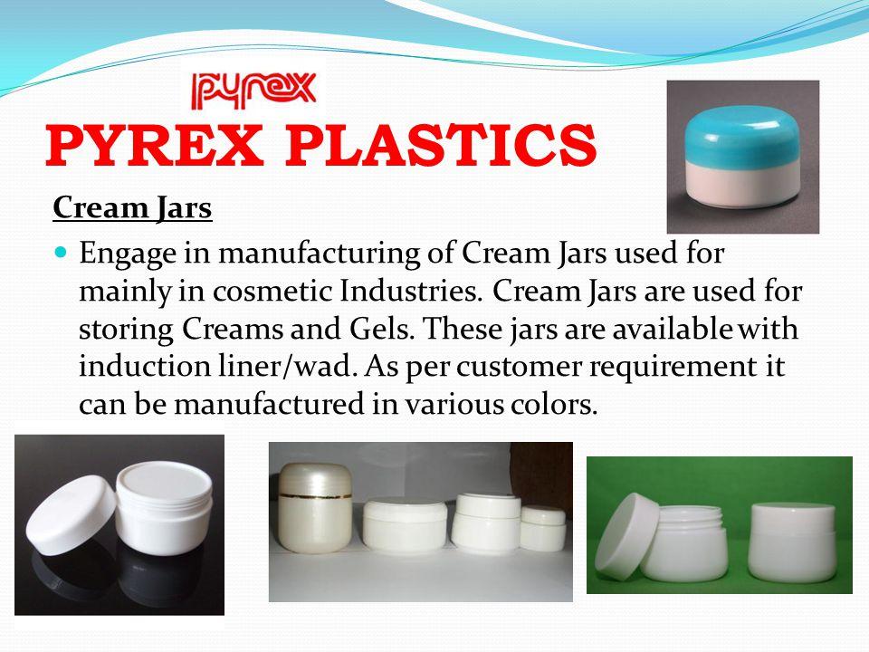 PYREX PLASTICS Cream Jars