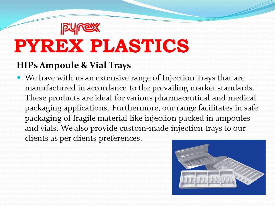 PYREX PLASTICS HIPs Ampoule & Vial Trays