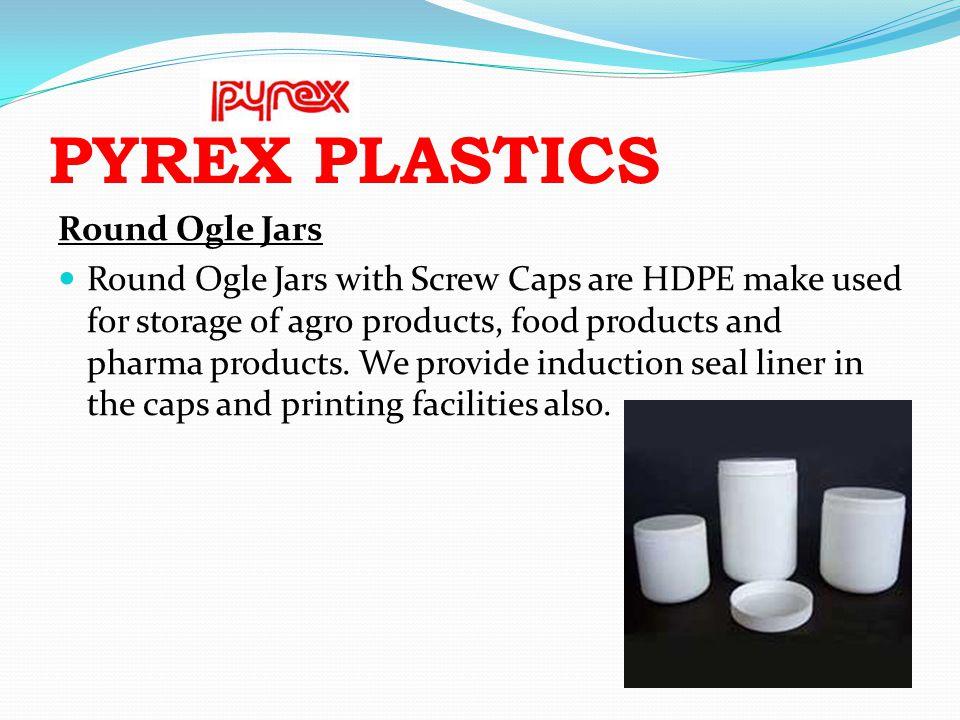 PYREX PLASTICS Round Ogle Jars