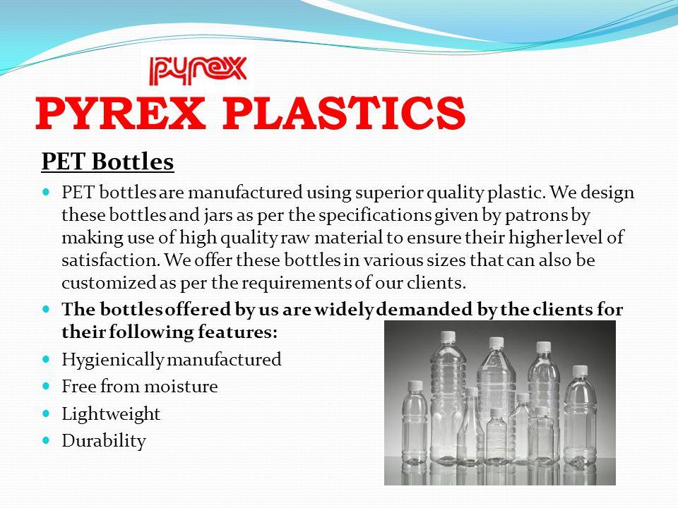 PYREX PLASTICS PET Bottles