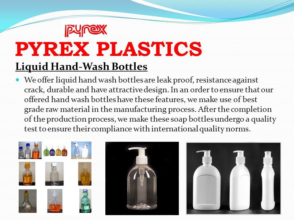 PYREX PLASTICS Liquid Hand-Wash Bottles