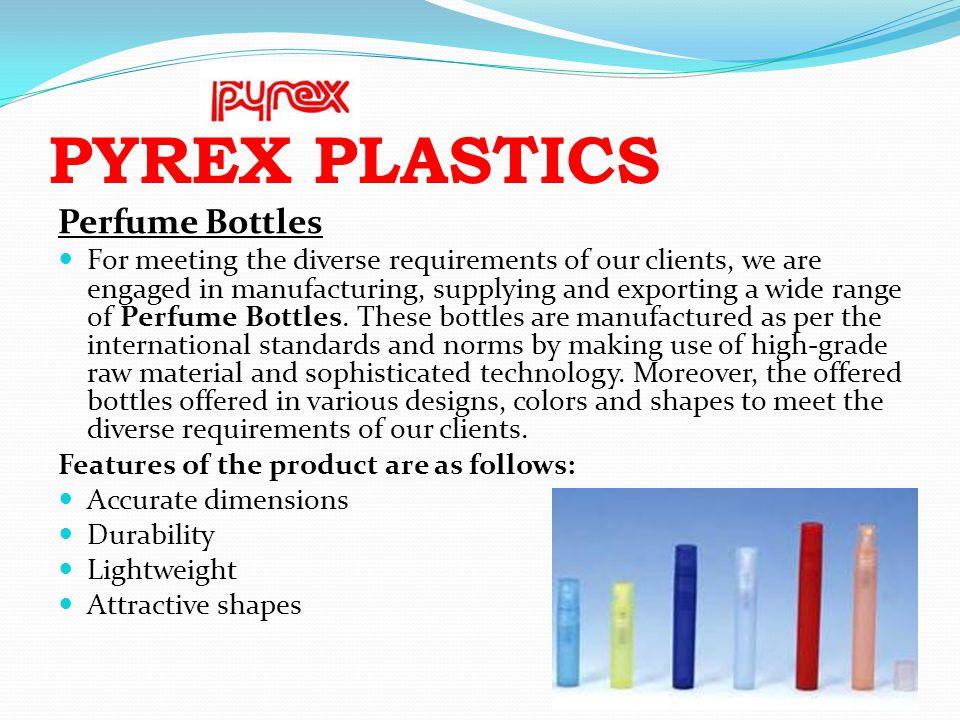 PYREX PLASTICS Perfume Bottles