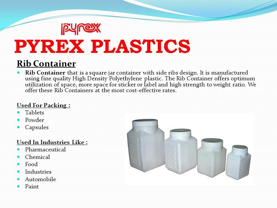 PYREX PLASTICS Rib Container