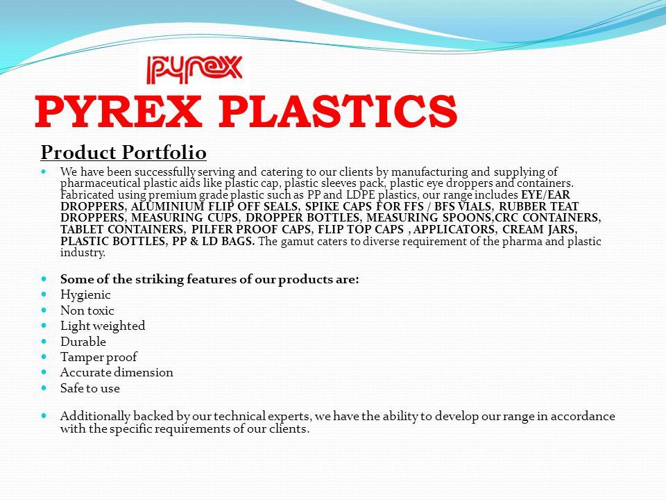 PYREX PLASTICS Product Portfolio