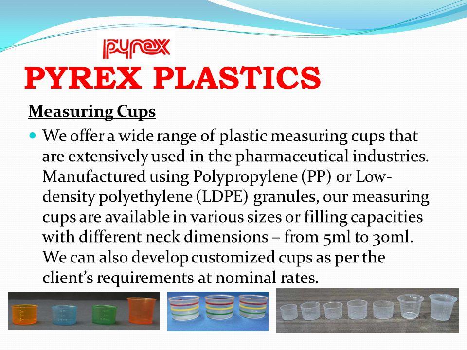PYREX PLASTICS Measuring Cups