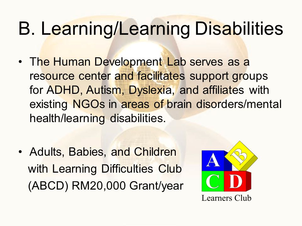 B. Learning/Learning Disabilities