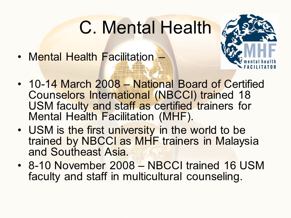 C. Mental Health Mental Health Facilitation –