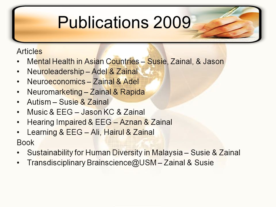 Publications 2009 Articles