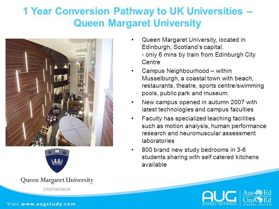 1 Year Conversion Pathway to UK Universities – Queen Margaret University